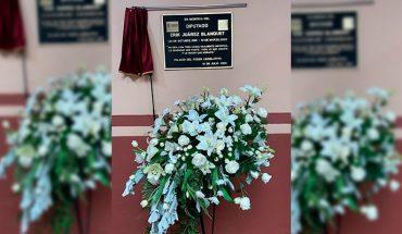 Congress recalls with commemorative plaque the late Erik Juárez Blanquet