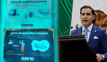 David Cortés takes advantage of coronavirus to campaign in Morelia