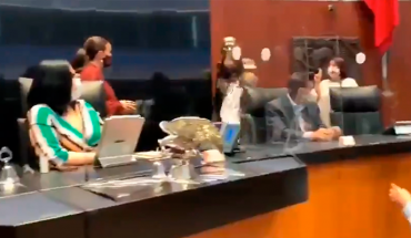 MORENA senator and PAN star in fight in the middle of extraordinary session (Video)
