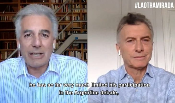 """Macri reappeared: """"Government tried to advance free speech"""""""