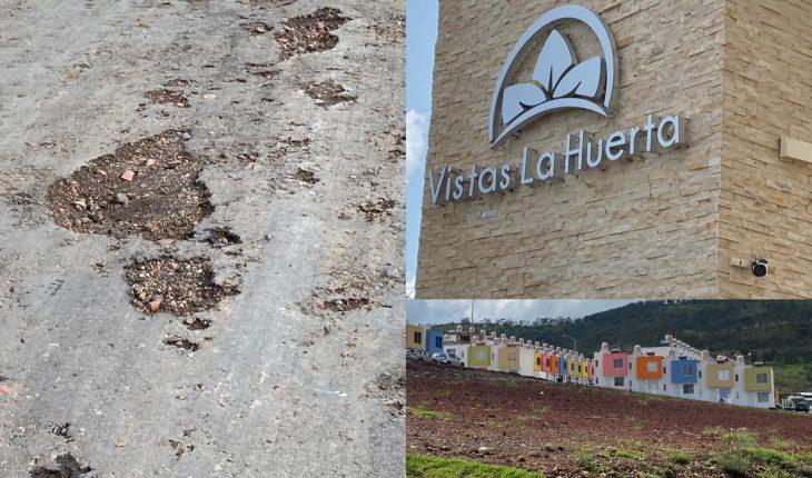 Neighbors of Views of the Huerta de Morelia, denoue the construction company for non-compliance