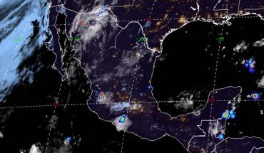 Occasional rains in Durango, Sinaloa, Nayarit, Jalisco and Zacatecas