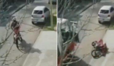 Villa Bosch: sodero rammed a motorbike that assaulted a woman in the street