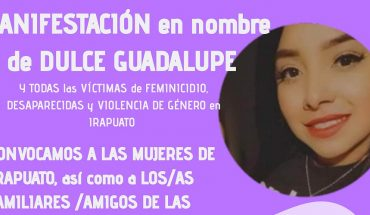 Women in Irapuato will march to denounce the murder of Dulce Guadalupe