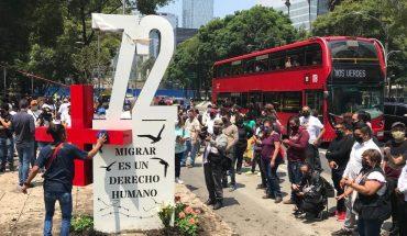 Colocan antimonumento para las víctimas de la masacre de San Fernando