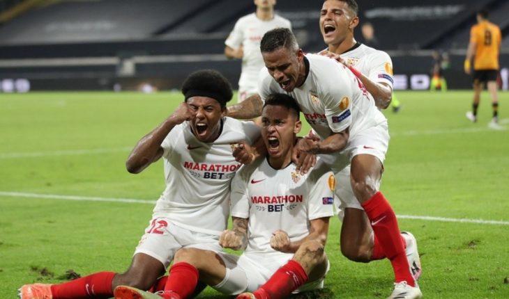 Con un gol agónico de Lucas Ocampos, Sevilla es semifinalista de Europa League
