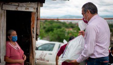 Entrega edil de Morelia apoyos alimentarios en colonia marginada