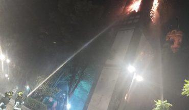 Incendio daña a la iglesia de Santa Veracruz en CDMX