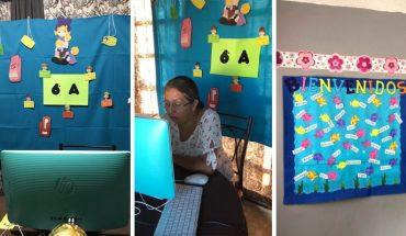Maestras ambientan sus salones virtuales para dar la bienvenida a alumnos