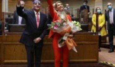Marcela Sabat (RN) y Claudio Alvarado (UDI) juraron como nuevos senadores