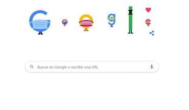 Prevención COVID-19: Google y un Doodle para incentivar el uso de barbijo