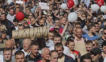 Protestas en Bielorrusia reclaman la renuncia del presidente Alexander Lukashenko