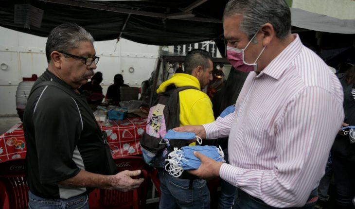 Supervisa Raúl Morón refuerzo de medidas sanitarias en tianguis de Morelia