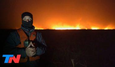 Fuego cruzado   TN en el corazón de los incendios en las islas del río Paraná: imágenes impactantes