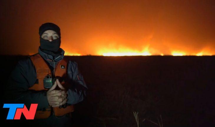 Fuego cruzado | TN en el corazón de los incendios en las islas del río Paraná: imágenes impactantes