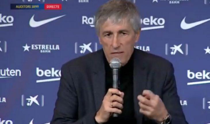 Barcelona officialized Quique Setién's departure as coach