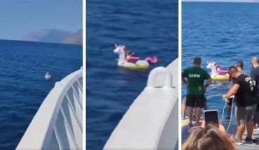 Boat Crew Rescues Girl Who Walked Away from Beaches in a Unicorn Float (Video)