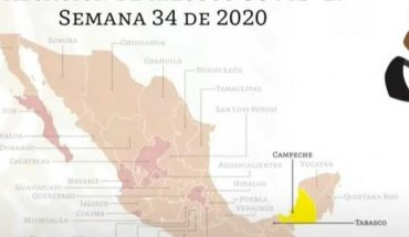 Campeche first state to pass to yellow traffic light