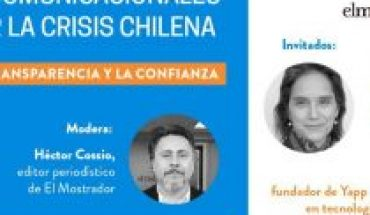 """Communication tools to deal with the Chilean crisis: UC and El Mostrador invite the webinar """"The role of transparency and trust"""""""