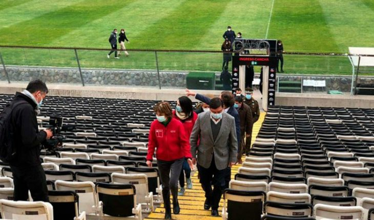 Health authorities inspected the Monumental Stadium