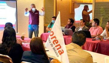 Michoacán morenists hold meeting without healthy distance or mouthguard