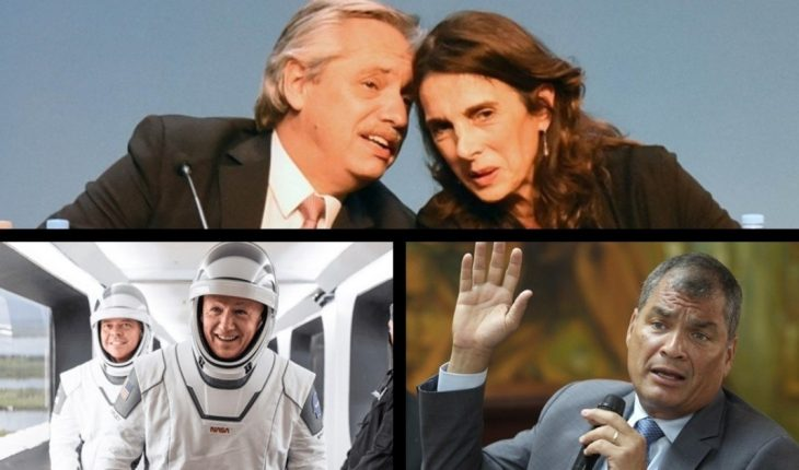 """New scheme of the Procrear Plan; SpaceX astronauts returned; comes """"Here We Are"""", the first festival with a gender perspective of the Konex and much more..."""