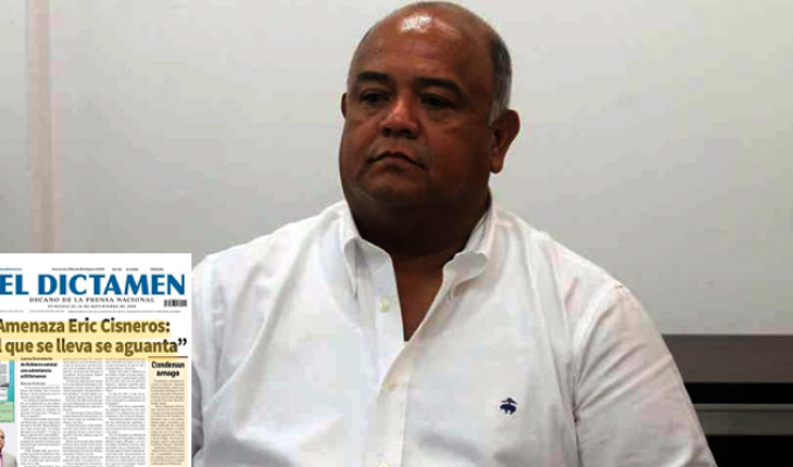 Secretary of Government of Veracruz threatens daily El Dictamen, The official was annoyed by a publisher, and sending intimidating messages.