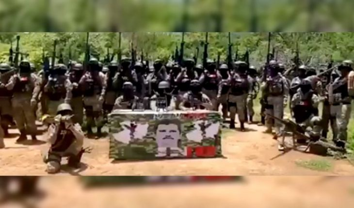 """Video emerges where the so-called """"Mencho"""" appears and threatens to take control of Tepalcatepec (Video)"""