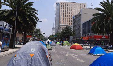 Campamento de Frena se extiende hasta Reforma