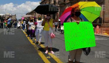 Continúan protestas del magisterio por pagos diferenciados