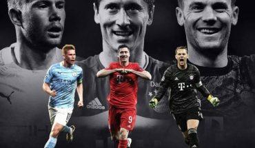 De Bruyne, Lewandoski y Neuer, candidatos a mejor jugador del año de la UEFA