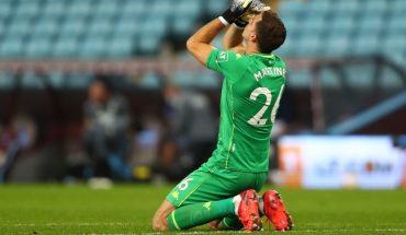 El mejor debut: Emiliano Martínez atajó un penal en la victoria de Aston Villa