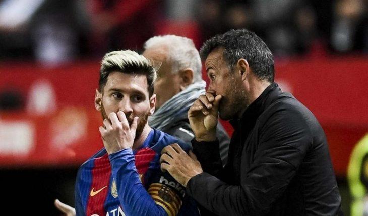 """Luis Enrique sobre Messi: """"Los clubes están por encima de las personas"""""""
