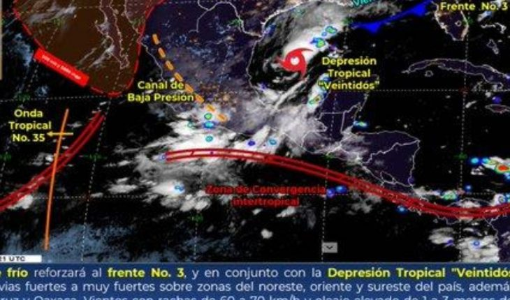 Pronóstico del clima de hoy: Frente frío No. 3 seguirá afectando México