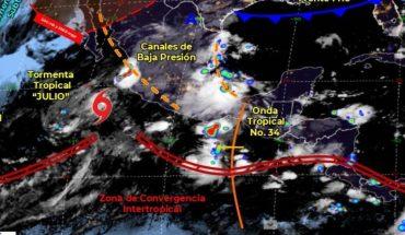 Pronóstico del clima de hoy: Tormenta Tropical Julio afectará estados del Pacífico