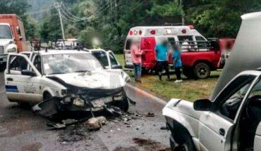 Se registra encontronazo de autos en la Morelia-Mil Cumbres; hay varios heridos