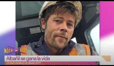 Albañil se convierte en doble de Brad Pitt | Vivalavi