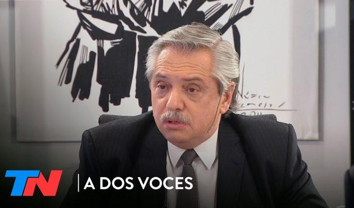 """Alberto Fernández: """"Toda la campaña dije que había que reformar la justicia argentina""""   A DOS VOCES"""