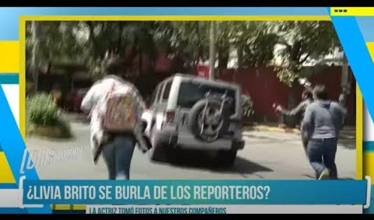 Livia Brito se burla de reporteros   El Chismorreo