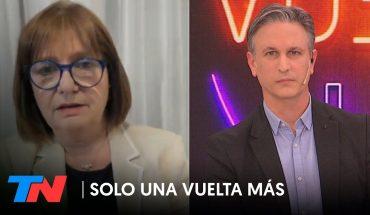 """Patricia Bullrich: """"Decidieron avanzar muy fuerte y con impunidad sobre las causas de Cristina"""""""