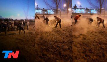 San Luis: eliminaron montículos de tierra que impedían el ingreso a un pueblo