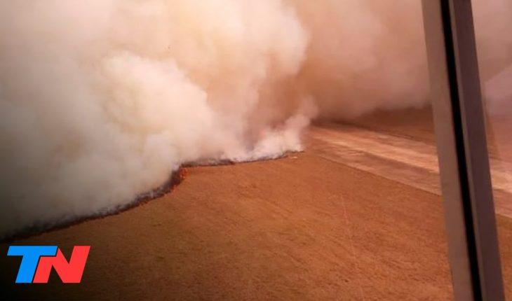 Un incendio avanzó sobre el predio del aeropuerto de Corrientes