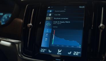 Volvo presentó un sistema que mejora la calidad del aire dentro del auto