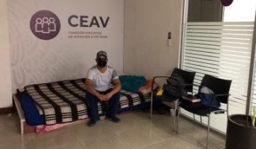 cumple 7 meses plantón en lobby de la CEAV