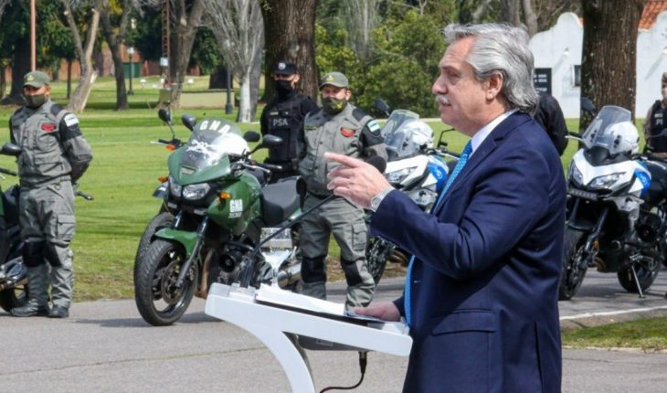 Alberto Fernández launched the Security Plan for Greater Buenos Aires