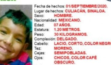 Amber Alert activated by Henry, missing child in Culiacán