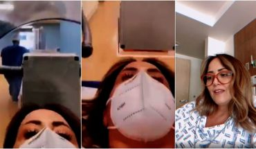 Andrea Legarreta is transferred to the hospital in an isolation capsule (Video)