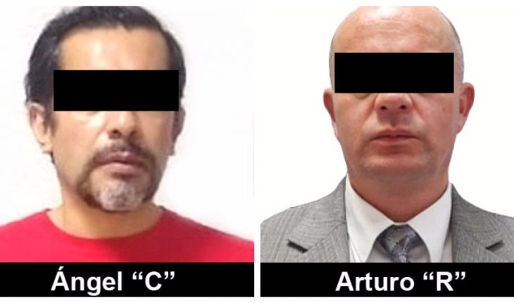 Angel Casarrubias, Mochomo and his lawyer enter the Altiplano