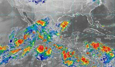 Heavy spot rains in Durango, Sinaloa, Nayarit, Puebla, Veracruz, Oaxaca, Chiapas and Tabasco