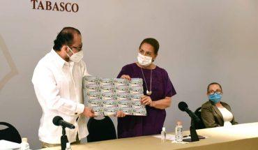 Insabi buys and donates plane raffle tickets to Tabasco hospitals